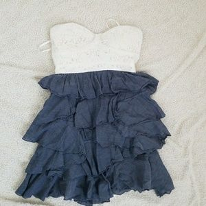 American Rag lace and ruffle bottom dress